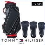 割引クーポン発行中 キャディバッグ ヘッドカバーセット  ゴルフバッグ メンズ レディース トミー ヒルフィガー CARBON TONE CADDIE BAG&HC SET THMG9FC1
