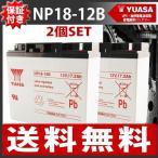 2個SET ★レビューを書いて送料無料★ UPS・無停電電源装置 バッテリー小型シール鉛蓄電池[18V12Ah] NP18-12 台湾YUASAバッテリー