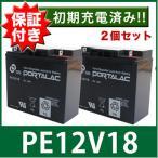 レビューを書いて★送料無料★2個セット【PORTALAC】台湾GSバッテリー UPS・溶接機・電動カート・セニアカー各種 [12V18Ah]  [セリオ