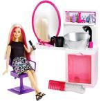 バービー人形 キャリア  美容院 スパークルスタイルサロン&ブロンドドールプレイセット