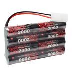 FCONEGY EP NiMH 電池 9.6V 2000mAh 充電式バッテリーパック タミヤコネクタ付 ニッケル水素バッテリラジコンカー/ボート/ト