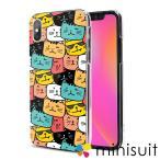 iPhone 5S ケース スマホケース スマホカバー 携帯ケース ハードケース クリア_猫山猫海(方形)_かわいい アニマル アニメ-7257-7257