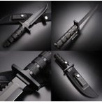 アウトドアステンレスナイフ サバイバルキット付 ブラック