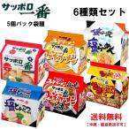 サンヨー食品 サッポロ一番 5個パック袋麺 6種類セット 送料無料(沖縄・離島発送不可)