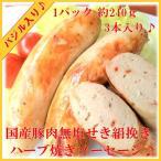 国産豚肉の天然腸の腸詰ハーブソーセージです 女性に人気  1パック約240g   賞味期限 約10日  無塩せきで絹挽きの焼...