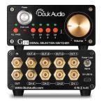 4系統 ステレオ RCA アナログオーディオスイッチャー ススピーカーセレクタスプリッタ IR リモコン