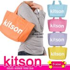 【DM便送料無料】★KITSON COLOR CANVAS TOTE BAG★5カラーキャンバストートバッグ★ロゴトートバッグ★キットソンL.A (Sサイズ)
