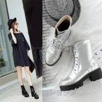 ブーツ レディース ショ ートブーツ ブーツ 厚底大きいサイズパンプスレースアップブーツ太ヒールパーティブーツ 防寒ブー ツ 結婚式秋冬春20代30代40代