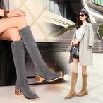 ブーツロングブーツ 可愛いニーハイブーツレディース短靴チャンキーヒールスリッポンシューズ ショートブーツ22cm〜26.5cm/大きサイズパンプス冬靴  二次会