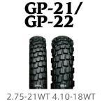 IRC 井上ゴム GP-21/GP-22 2.75-21WT 4.10-18WT タイヤ前後セット 送料無料 XLR200R DT125R ジェベル200 KLR250 スーパーシェルパ