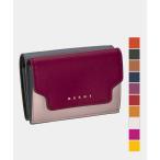 マルニ MARNI 三つ折り財布 レディース ミニ財布 サフィアーノカーフスキン トリフォールド レザー ウォレット プレゼント ギフト お祝い PFMOW02U23LV520