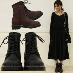 ブーツ ショートブーツ レディース シューズ 靴 カジュアル レースアップ 編み上げ 厚底 合皮 歩きやすい 秋冬新作