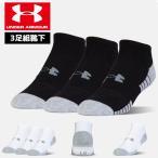 アンダーアーマー メンズ ソックス 靴下 3足組 通学 中学校 高校 トレーニング 1312439 ヒートギア  夏用 UNDER ARMOUR ヒートギアアテックノーショーソックス