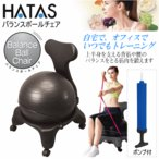 (エントリーでP10倍)秦運動具 HATAS/ハタ バランスボールチェア ブラック DB120CB/イス/椅子/2016年継続モデル