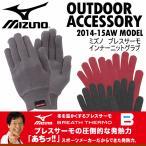 ミズノ MIZUNO ブレスサーモ インナーニットグラブ A2JY4512/インナー用手袋/インナーグローブ 2016〜17年秋冬継続モデル