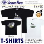 (Rオープン記念クーポン有)チームファイブ Team Five メンズ バスケットボール Tシャツ 半袖/AT5307/AT5308/2017年継続モデル[物流]