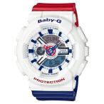 Yahoo!ネットDE腕時計わっしょい村BA-110TR-7AJF ベビーG BABY-G カシオ CASIO White Tricolor レディース 腕時計 LEDライト