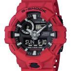 ショッピングg-shock ブラック GA-700-4AJF CASIO カシオ G-SHOCK ジーショック Gショック G−SHOCK ブラック レッド 赤 フロントボタン メンズ 腕時計 送料無料 国内正規品
