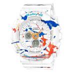 ショッピングbaby BA-120SPL-7AJF BABY-G ベイビージー ベビージー CASIO カシオ スプラッターパターン ホワイト 白 レディース 腕時計 国内正規品 送料無料