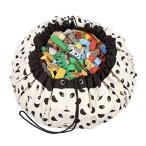 PERABELLO プレイマット おもちゃ収納 バッグ ラグ キッズマット おもちゃ 子どもプレイマット お片付け簡単 おしゃれ 直径140