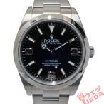 【栄】仕上済 ROLEX ロレックス エクスプローラー1 214270 ランダム 前期 ブラック SS 自動巻き メンズ 腕時計 男