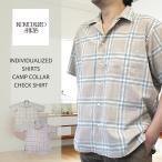 ショッピングINDIVIDUALIZED INDIVIDUALIZED SHIRTS  インディビジュアライズド シャツ 【当社別注】CAMP COLLAR CHECK SHIRT キャンプカラーチェックシャツ