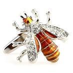 MFYS Jewelry ミツバチ 蜜蜂 カフスボタン 専用収納ケース付き