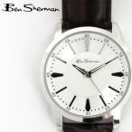 ベンシャーマン Ben Sherman 腕時計 ホワイトシルバーフェイス 円形 メンズ モッズ ギフト