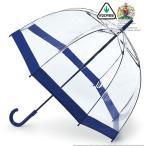 FULTON フルトン 傘 バードケージ 長傘 透明 ネイビー レディース かさ 鳥かご