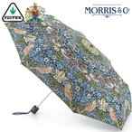 フルトン FULTON かさ 折りたたみ傘 ウィリアム モリス ストロベリー シーフ 英国王室御用達 傘 いちご泥棒 苺 花柄  L757