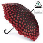 フルトン x ルルギネス 傘 Lulu Guinness x FULTON コラボ ケンジントン レーザーカットリップ ブラック レッド 長傘