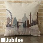 クッションカバー 北欧デザイン 45×45cm Jubilee ロンドンシティースケープ