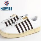 ケースイス K-SWISS スニーカー Classic 88 AGED テニスシューズ ホワイトブラウン エイジング加工