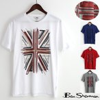 ベンシャーマン Ben Sherman Tシャツ ユニオンジャック グラフィック エンボス 4色 ホワイト インディゴ グレー レッド