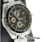 Ben Sherman ベンシャーマン ブラック クロノグラフ 腕時計 メンズ