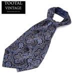 Tootal Vintage Crabat シルク クラバット スカーフ ストールタイ ペイズリー オリジナル ネイビー