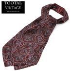 Tootal Vintage Crabat シルク クラバット スカーフ ストールタイ ペイズリー オリジナル バーガンディー