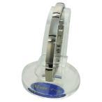 ブレスレット 健康アクセサリー  MARE(マーレ) ゲルマニウムブレスレット PT/IP ミラー/マット 173S (16.15cm) H9392-01S