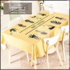 ショッピングテーブル テーブルクロス ダイニングテーブル 北欧 送料無料 サボテン柄  140cm×180cm 140cm×200cm 140cm×220cm tbc-0021