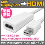 Mini DisplayPort - HDMI 変換ケーブル miniDP to HDMI 変換アダプタ Thunderbolt Port - HDM UL.YN