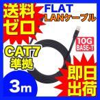 ウルマックスオリジナル カテゴリー7LANケーブル フラット 3m