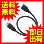 HDMI延長ケーブル 0.5m HDMIver1.4 金メッキ端子 High Speed HDMI Cable ブラック ハイスピード 4K 3D UL.YNの画像