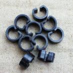 丸型・膨らみのある形状に接着★ヘアゴム・安全ピンパーツ★14×12★10個セット