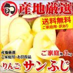 【2箱購入で送料無料】糖度厳選 訳あり りんご サンふじ 3kg りんご リンゴ 山形県産 産地直送 お取り寄せ
