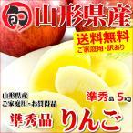 【予約】訳あり サンふじ りんご ご家庭用 5kg 準秀品 生食可 山形県産 リンゴ 人気 果物 フルーツ サンふじ  送料無料 お取り寄せ