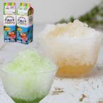 天然着色料のかき氷シロップ1L×12本セット 桃6本+メロン6本 (果汁入り・保存料不使用) 業務用