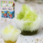 天然着色料のかき氷シロップ1L×12本セット 日向夏6本+抹茶6本 (果汁入り・保存料不使用) 業務用