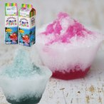 天然着色料のかき氷シロップ1L×12本セット グレープ6本+ブルーライム6本 (果汁入り・保存料不使用) 業務用