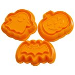 かわいい・楽しい・マシュマロフォンダンクッキーセット(モンスターナイトデコ型2枚クッキー型3種)(クックパッド×貝印)/型 抜き型 デコ ステンドグラス