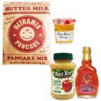 ウルトラミックス北海道産バターミルクパンケーキミックス&メープル又はアップルソースと蜂蜜のお買得3点セット 送料無料